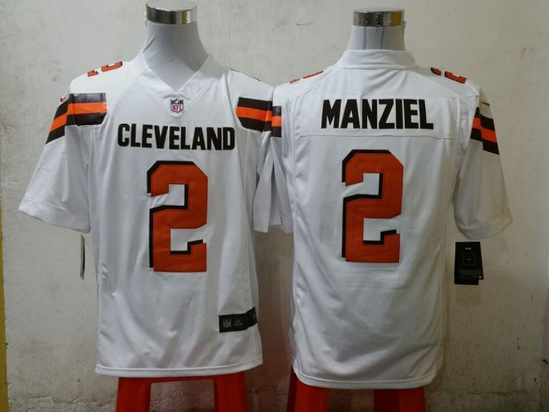 Cleveland Browns 2 manziel white 2015 New Game Jersey