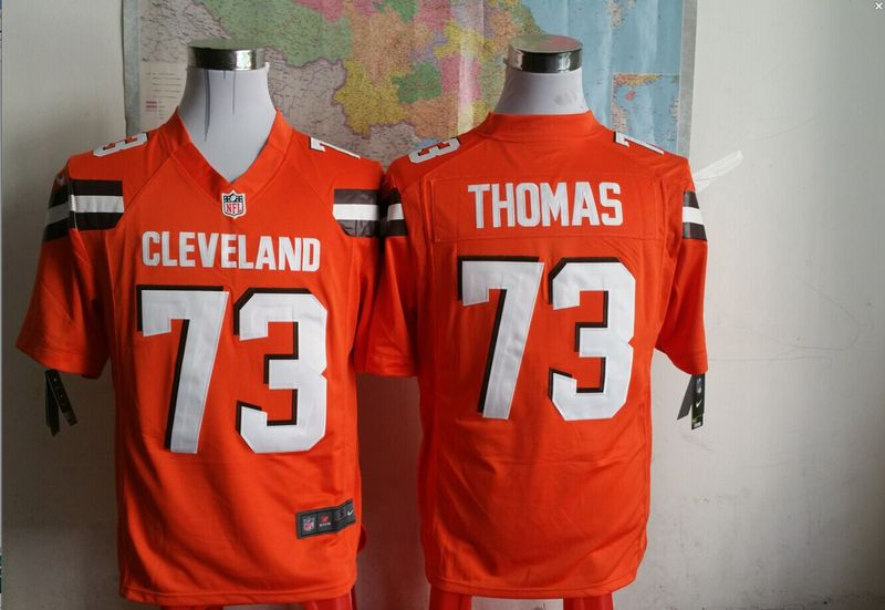 Cleveland Browns 73 thomas Orange 2015 New Game Jersey