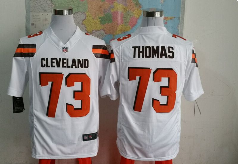 Cleveland Browns 73 thomas white 2015 New Game Jersey