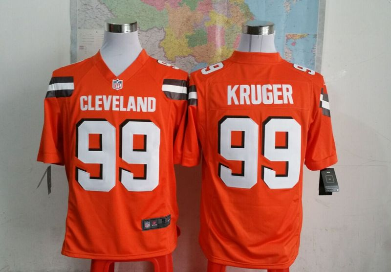 Cleveland Browns 99 kuruger Orange 2015 New Game Jersey