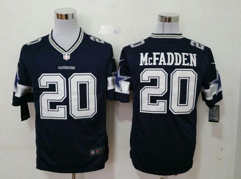 Dallas Cowboys 20 Mcfadden blue 2015 New Game Jersey