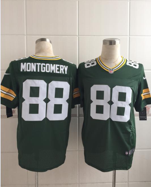 Green Bay Packers 88 Montgomery Green 2015 Nike Elite Jersey