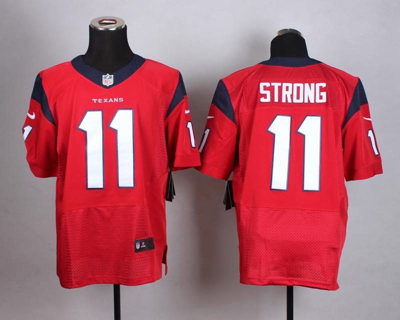 NFL Customize Houston Texans 11 Strong red Men Nike Elite Jerseys