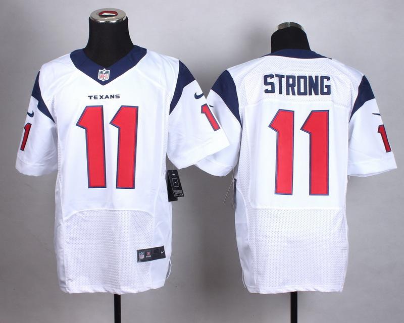 NFL Customize Houston Texans 11 Strong White Men Nike Elite Jerseys