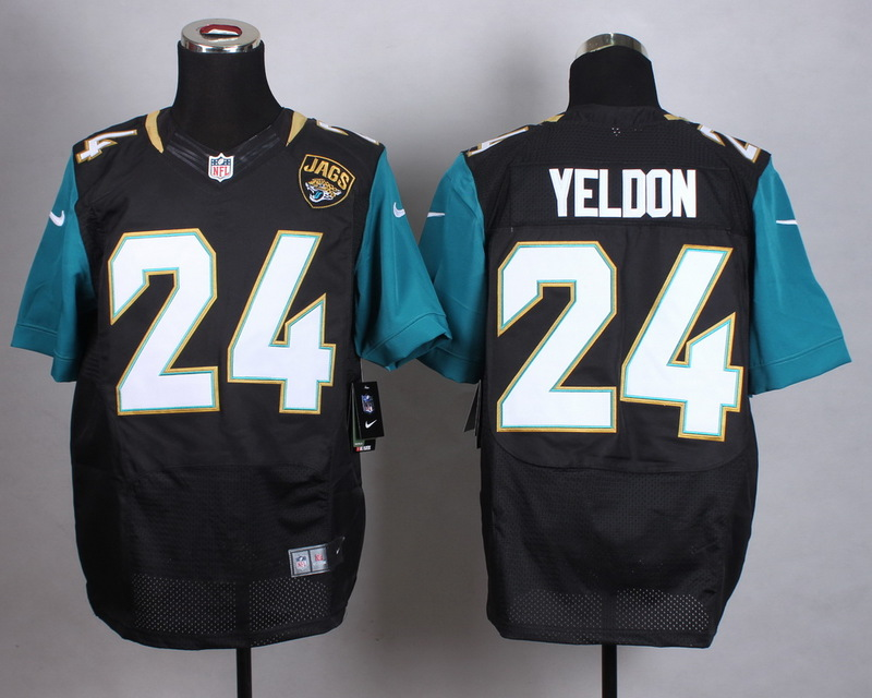 Jacksonville Jaguars 24 Yeldon Black Men Nike Elite Jerseys