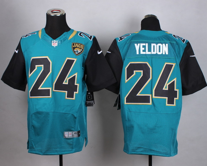 Jacksonville Jaguars 24 Yeldon Green Men Nike Elite Jerseys