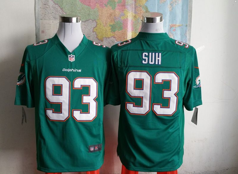Miami Dolphins 93 sun green 2015 New Game Jersey