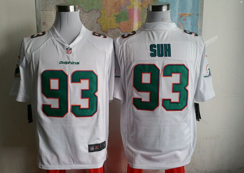 Miami Dolphins 93 sun white 2015 New Game Jersey