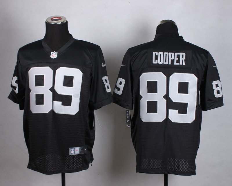 Oakland Raiders 89 Cooper Black Men Nike Elite Jerseys