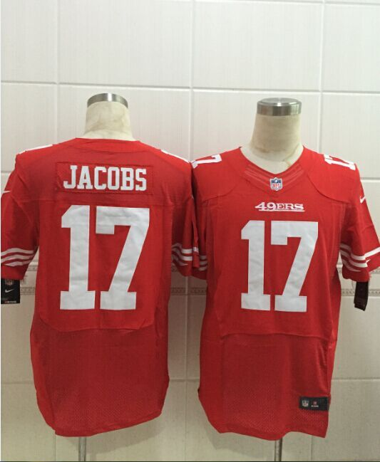 San Francisco 49ers 17 Jacobs red 2015 Nike Elite Jersey