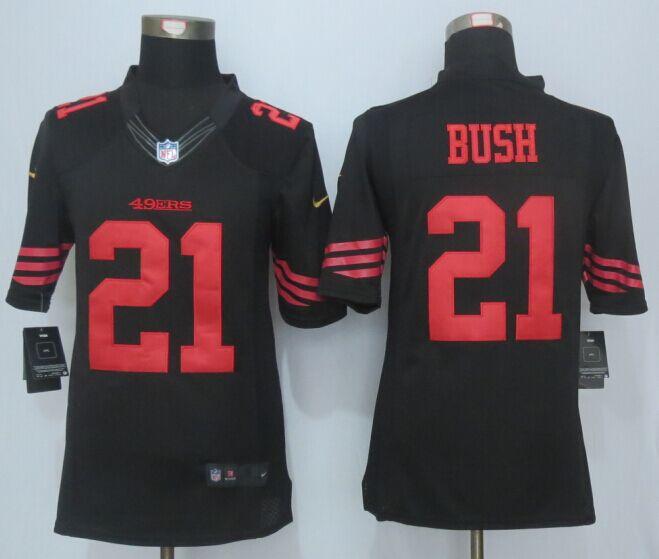 San Francisco 49ers 21 Bush Black 2015 Nike Limited Jersey