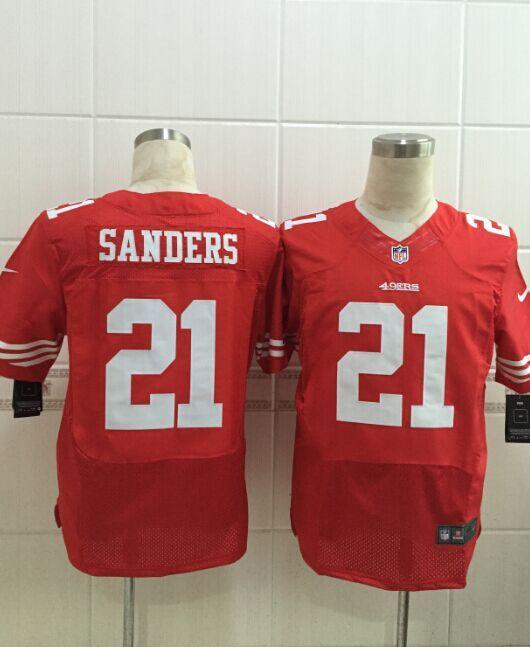 San Francisco 49ers 21 Sanders red 2015 Nike Elite Jersey