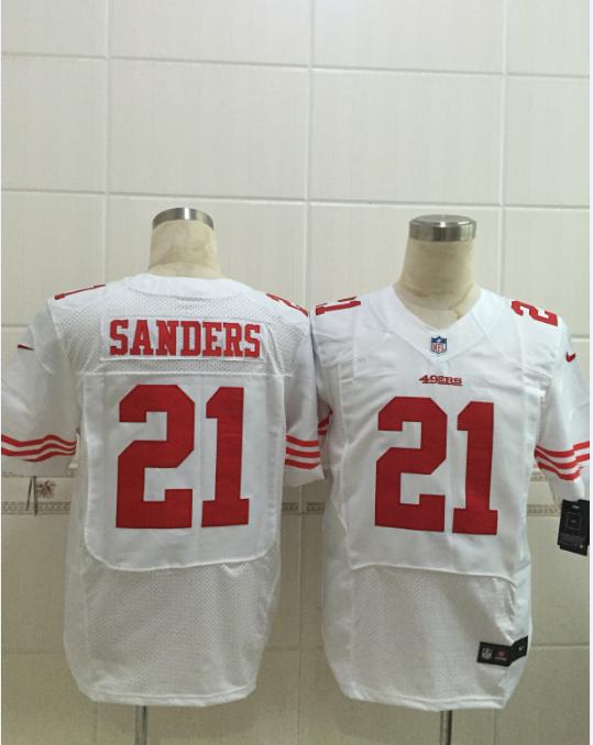 San Francisco 49ers 21 Sanders White 2015 Nike Elite Jersey