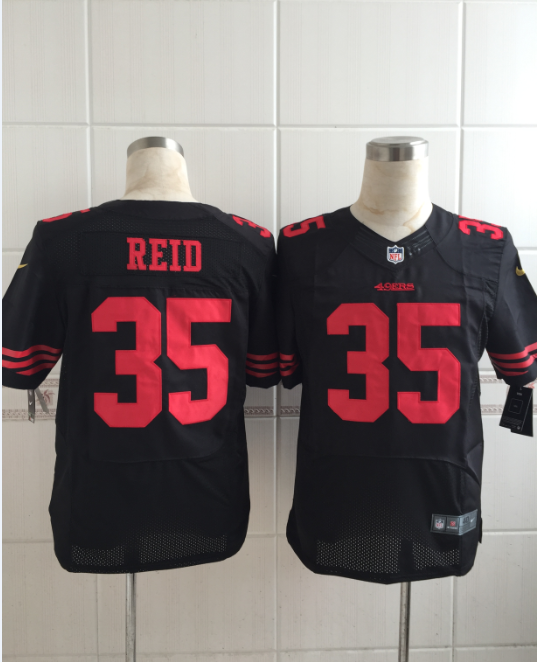 San Francisco 49ers 35 reid black Men Nike Elite Jerseys