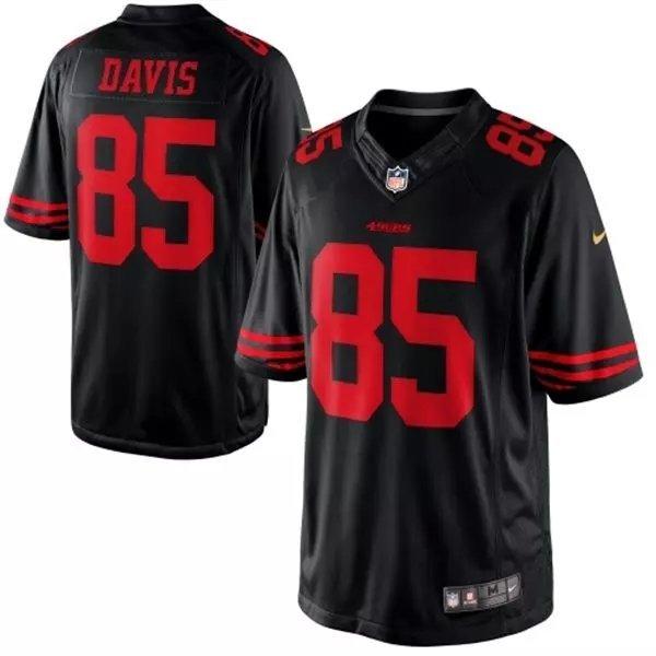 San Francisco 49ers 85 davis black 2015 Nike Limited Jersey