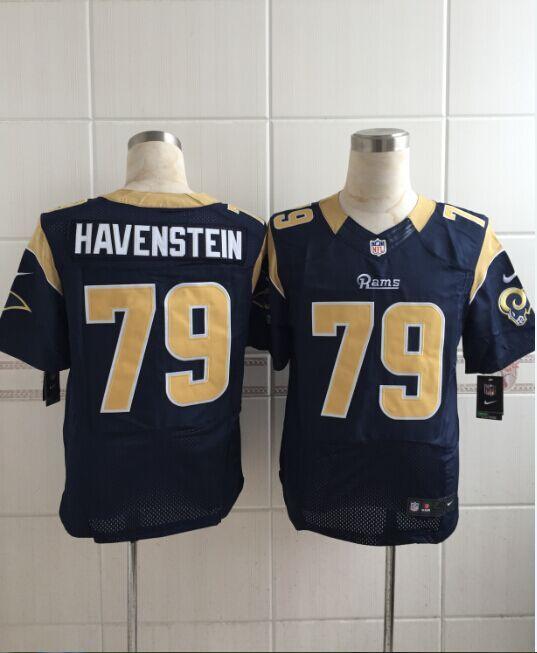 St. Louis Rams 79 havenstein Blue Men Nike Elite Jerseys