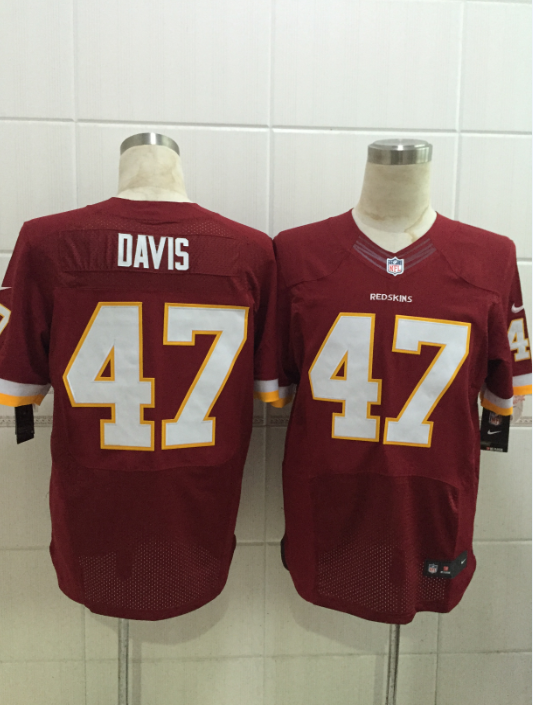 Washington Redskins 47 davis red 2015 Nike Elite Jersey