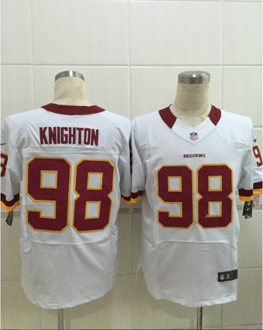 Washington Redskins 98 knighton white 2015 Nike Elite Jersey