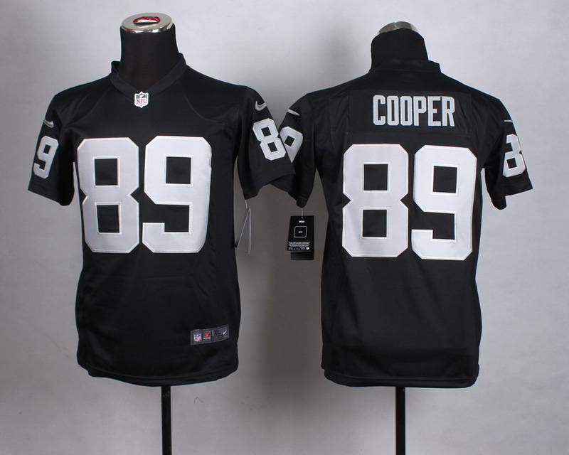Youth Oakland Raiders 89 Cooper Black 2015 Nike Jerseys
