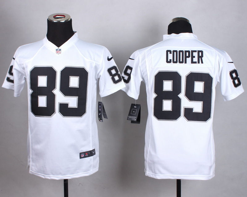 Youth Oakland Raiders 89 Cooper White 2015 Nike Jerseys