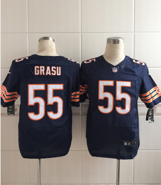 Chicago Bears 55 Grasu Blue Men Nike Elite Jerseys