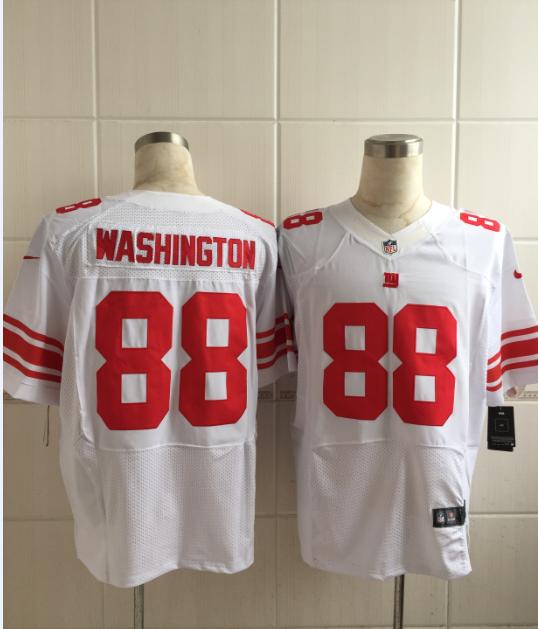 New York Giants 88 Washington White Men Nike Elite Jerseys