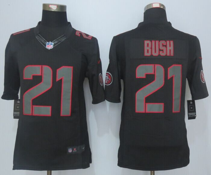 San Francisco 49ers 21 Bush Impact Limited New Nike Black Jersey