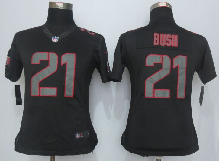 Womens San Francisco 49ers 21 Bush Impact Limited New Nike Black Jersey