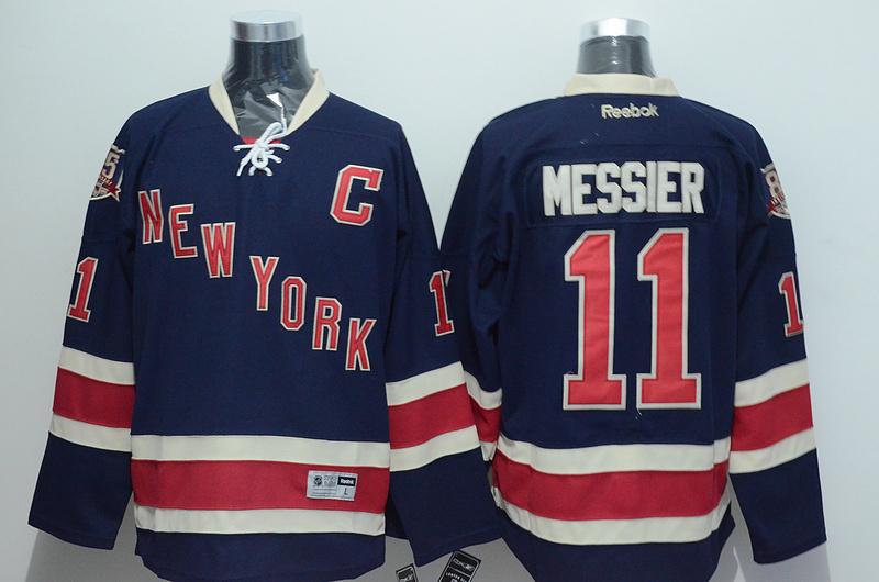 NHL 2015 New York Rangers 11 Messier Blue Jersey