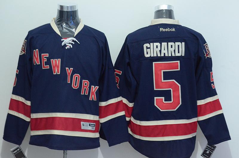 NHL 2015 New York Rangers 5 Girardi Blue Jersey