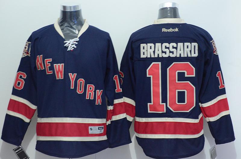 NHL 2015 New York Rangers 16 Brassard Blue Jersey