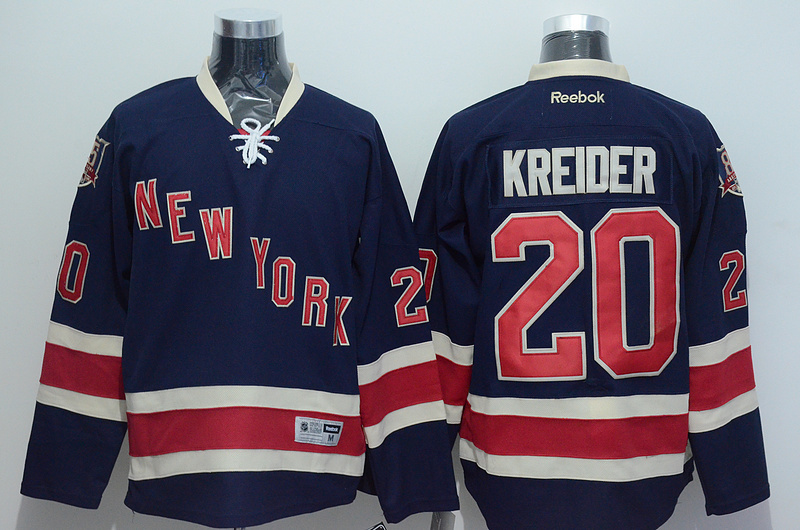 NHL 2015 New York Rangers 20 Kreider Blue Jersey