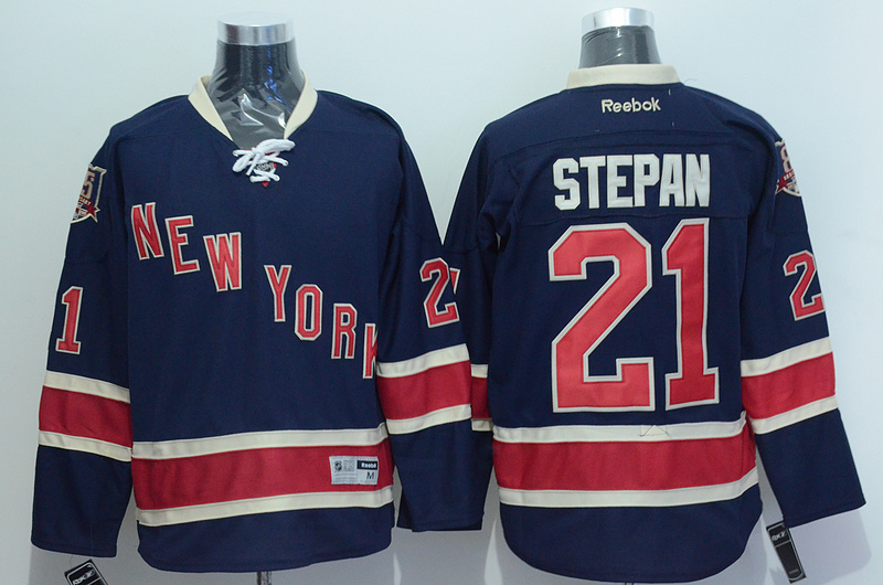 NHL 2015 New York Rangers 21 Stepan Blue Jersey