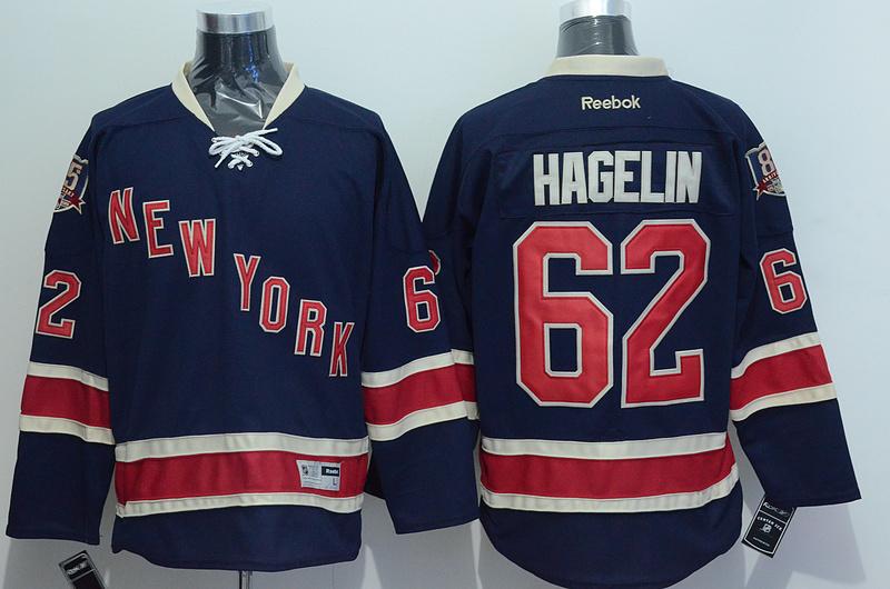 NHL 2015 New York Rangers 62 Hagelin Blue Jersey