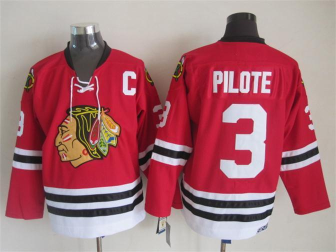 NHL 2015 Chicago Blackhawks 3 Pilote Red Jerseys