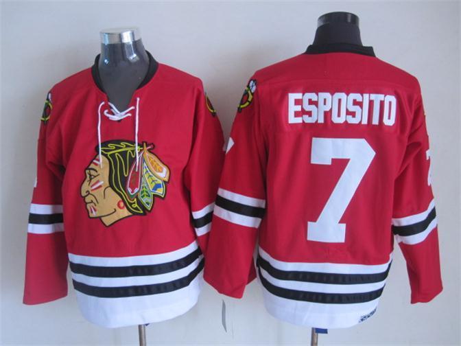 NHL 2015 Chicago Blackhawks 7 Esposito Red Jerseys