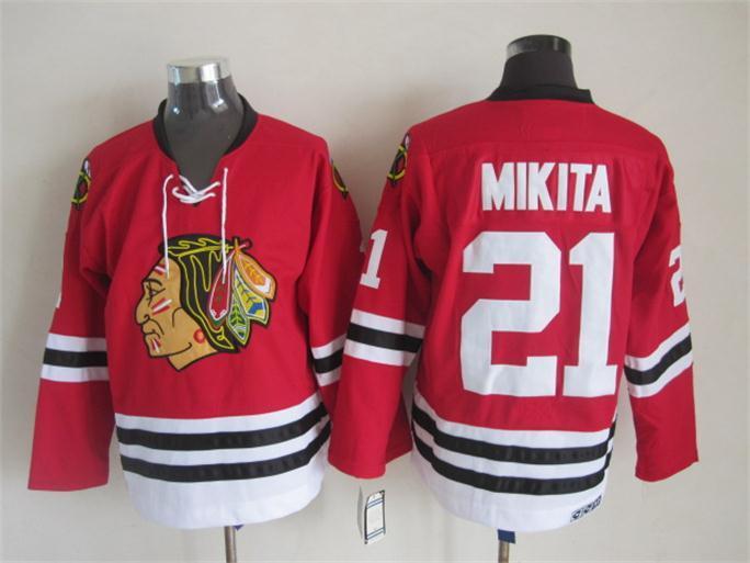 NHL 2015 Chicago Blackhawks 21 Mikita Red Jerseys
