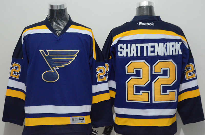 NHL 2015 St. Louis Blues 22 Shattenkirk Blue Jersey