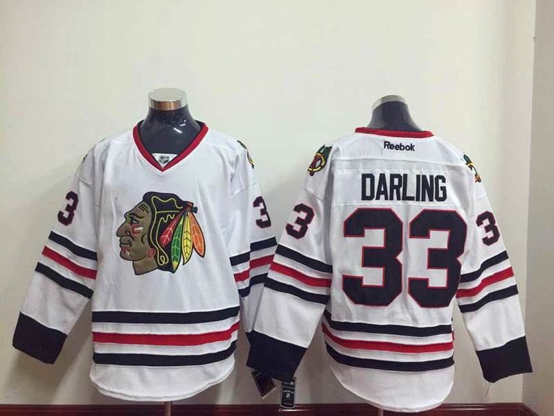 NHL Chicago Blackhawks 33 darling white 2015 Jersey