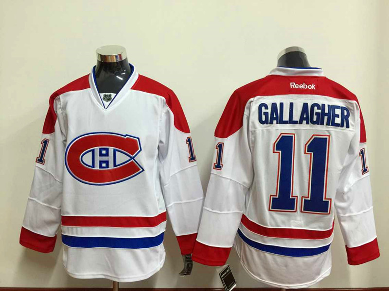 NHL Montréal Canadiens 11 gallagher white Throwback Jersey