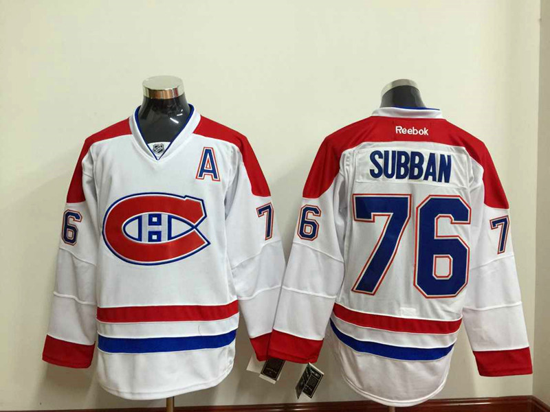 NHL Montréal Canadiens 76 subban white Throwback Jersey