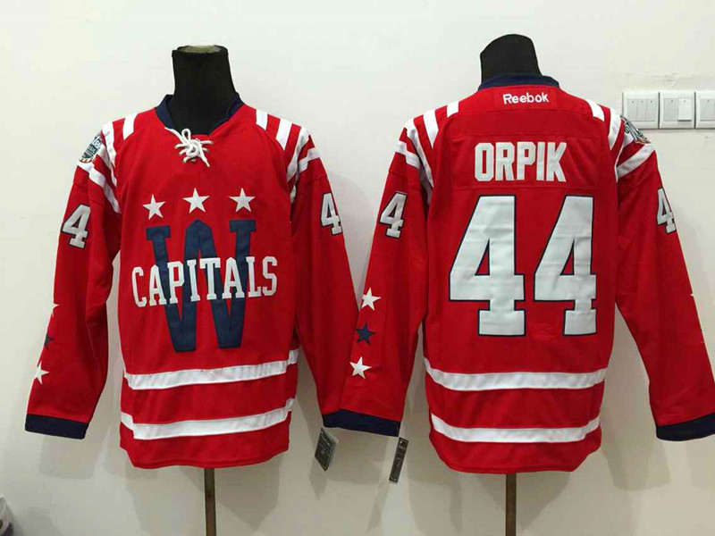 NHL Washington Capitals 44 Orpik red 2015 Winter Classic 2015 Jersey