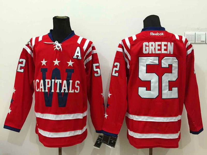 NHL Washington Capitals 52 green red 2015 Winter Classic 2015 Jersey