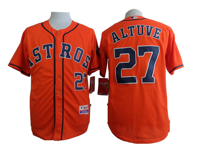 MLB Houston Astros 27 Altuve orange 2015 Jersey