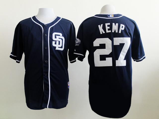 MLB San Diego Padres 27 Kemp blue 2015 Jersey