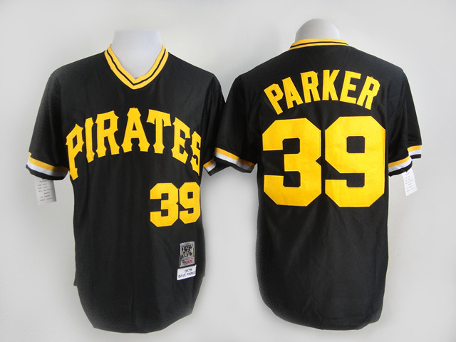 MLB Pittsburgh Pirates 39 Parker black Throwback Jersey