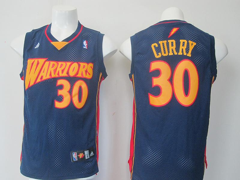 NBA Golden State Warriors 30 Curry Blue Flash version Jerseys