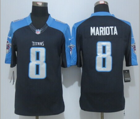 Tennessee Titans 8 Mariota Black New Nike Limited Jersey