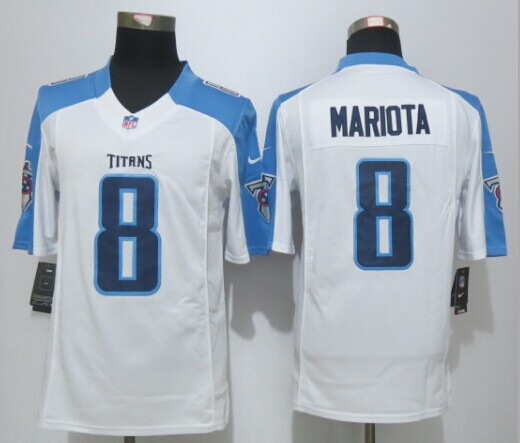 Tennessee Titans 8 Mariota White New Nike Limited Jersey