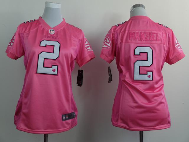 Womens Cleveland Browns 2 Manziel Pink 2015 Nike Jersey
